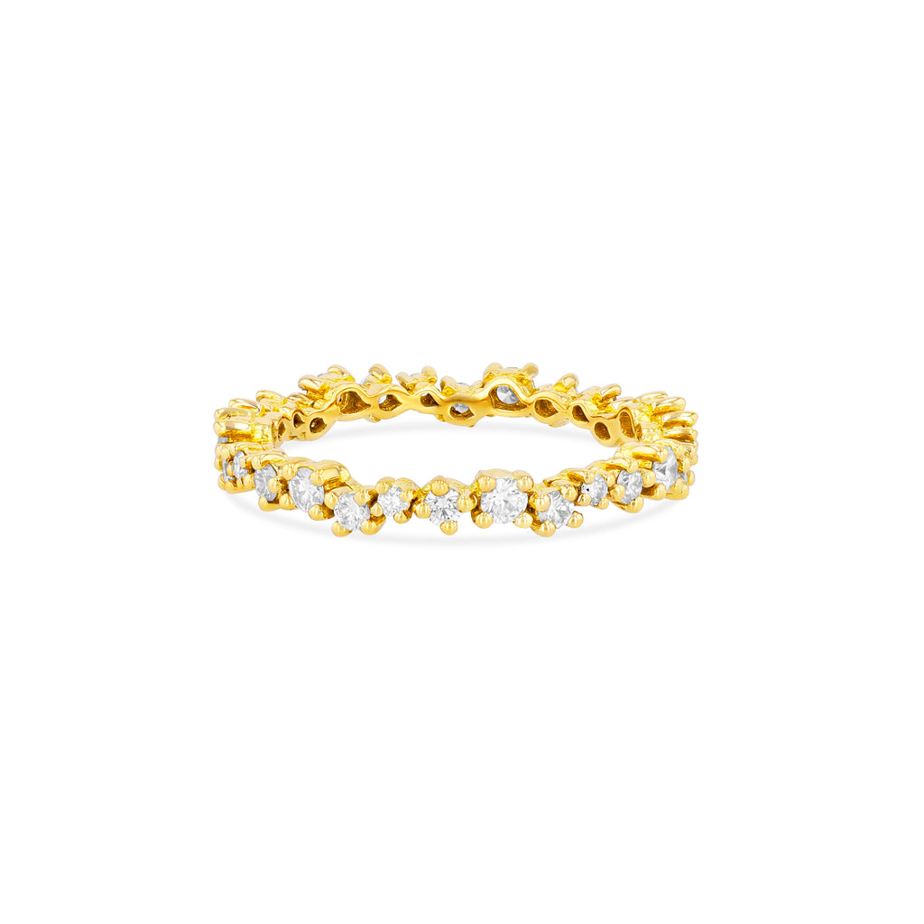 SMALL STARBURST ETERNITY BAND