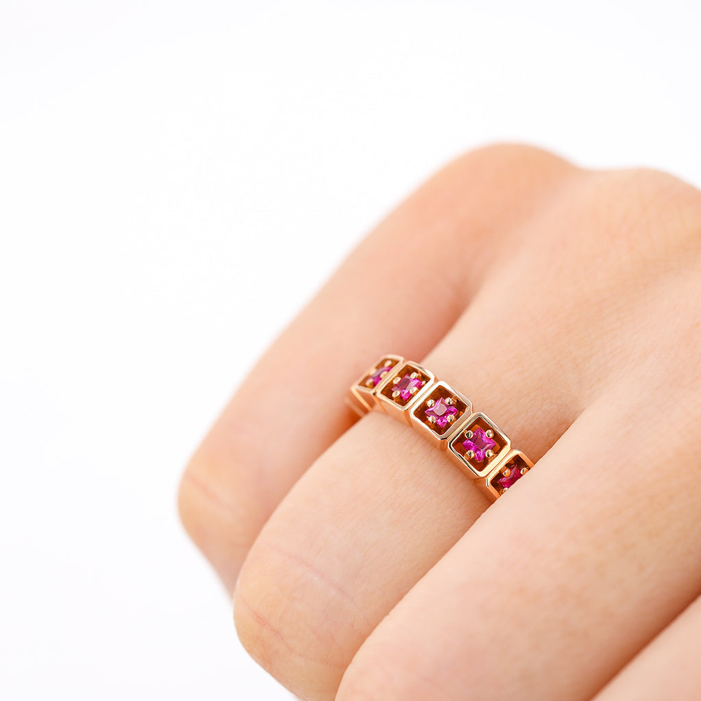 CASSIA RUBY ETERNITY BAND