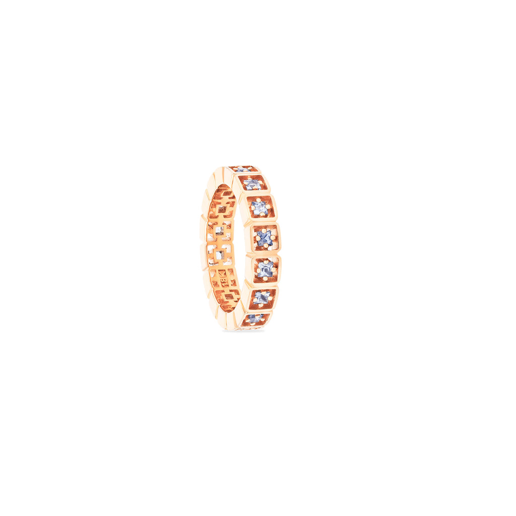CASSIA LIGHT BLUE SAPPHIRE ETERNITY BAND
