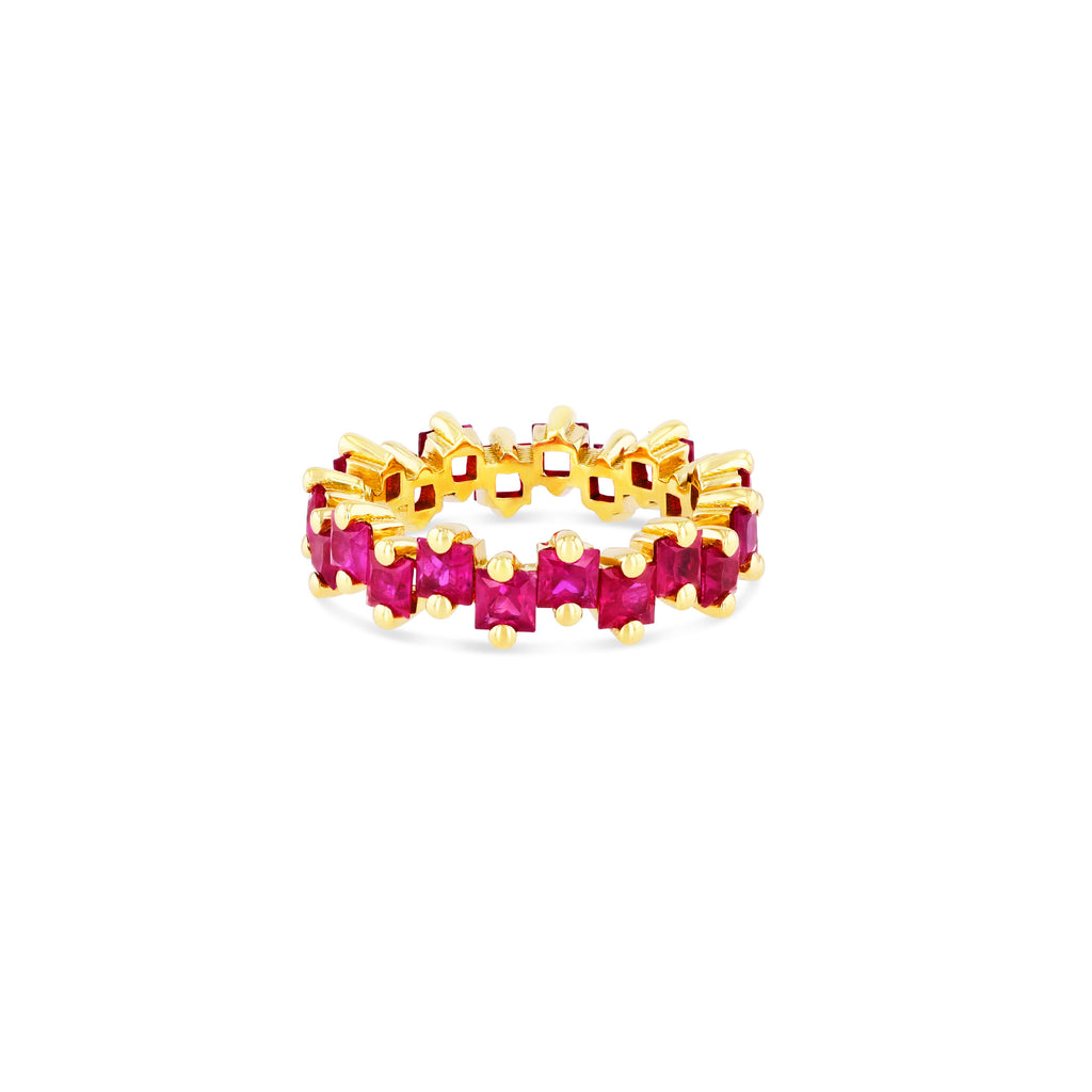 BLAIR RUBY PRINCESS CUT ETERNITY BAND