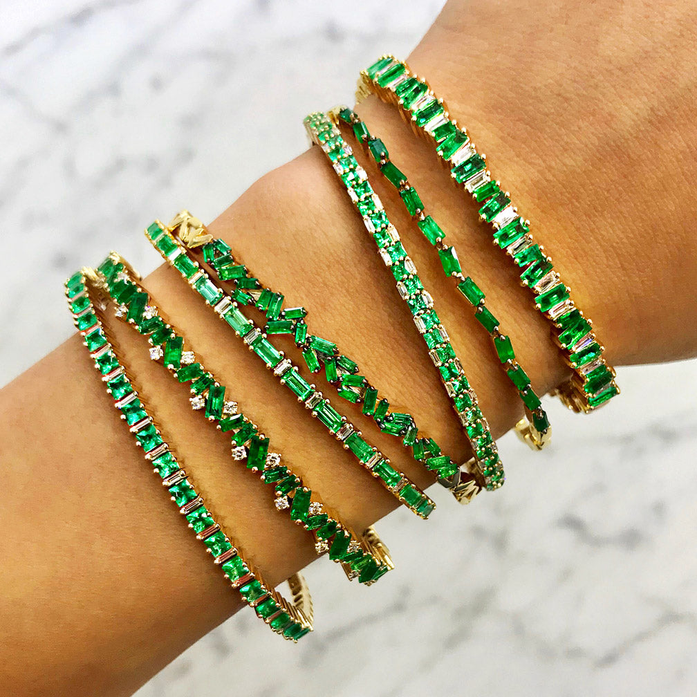 EMERALD HORIZONTAL BAGUETTE BANGLE