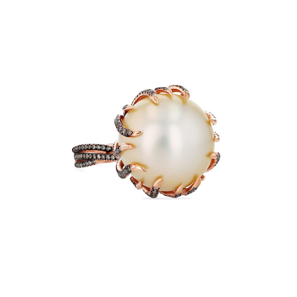 ONE OF A KIND ROSE GOLD PEARL RING