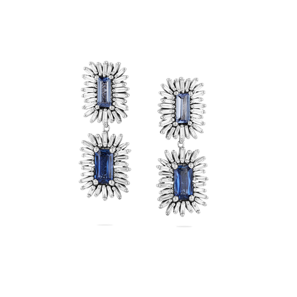 ONE OF A KIND BLUE SAPPHIRE DROP EARRING