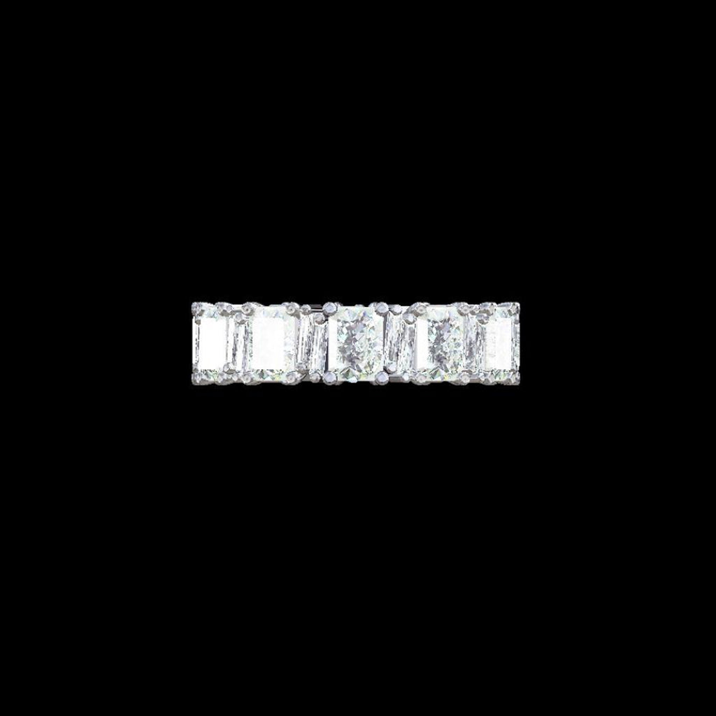 ONE OF A KIND EMERALD CUT DIAMOND ETERNITY BAND