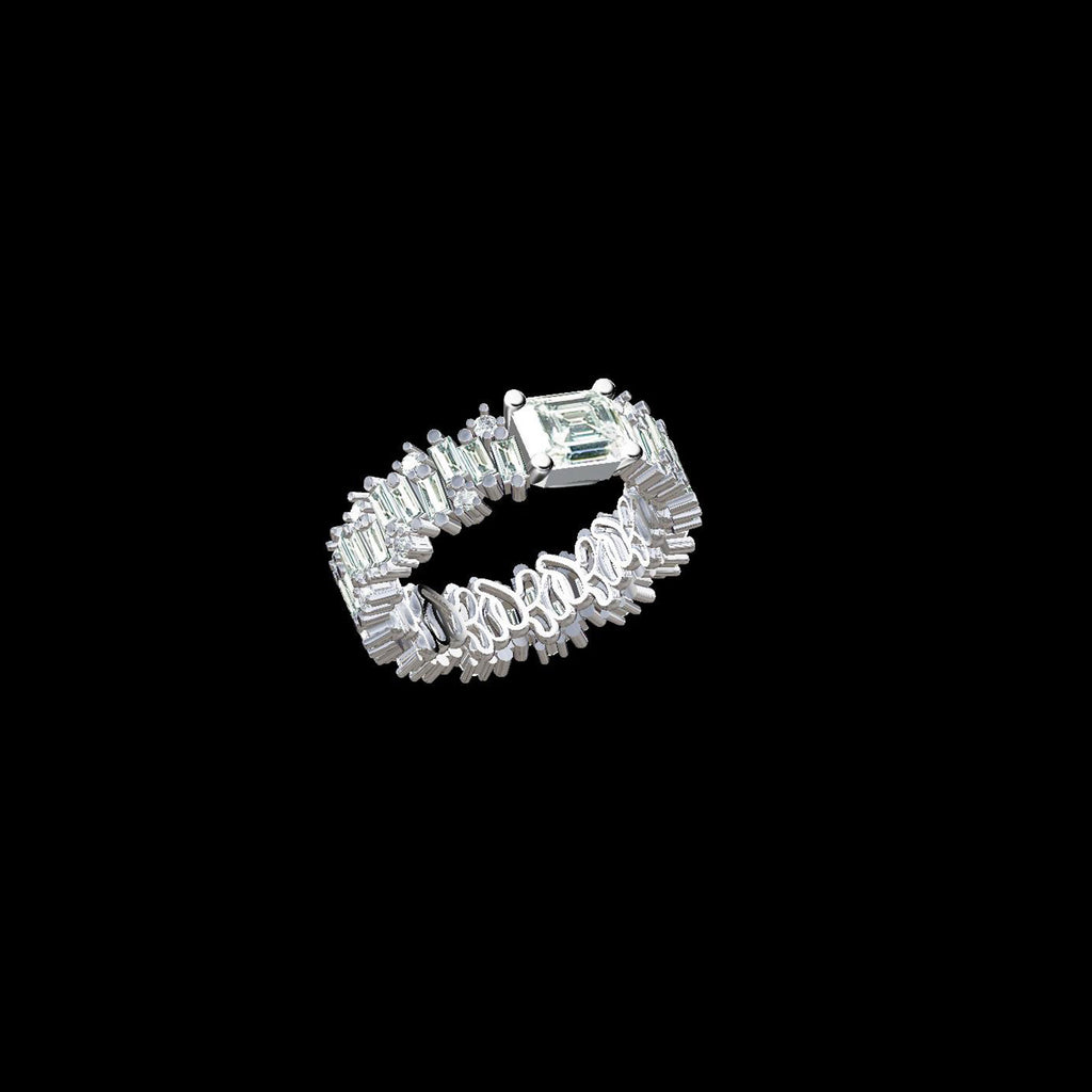 ONE OF A KIND BAGUETTE DIAMOND ETERNITY BAND
