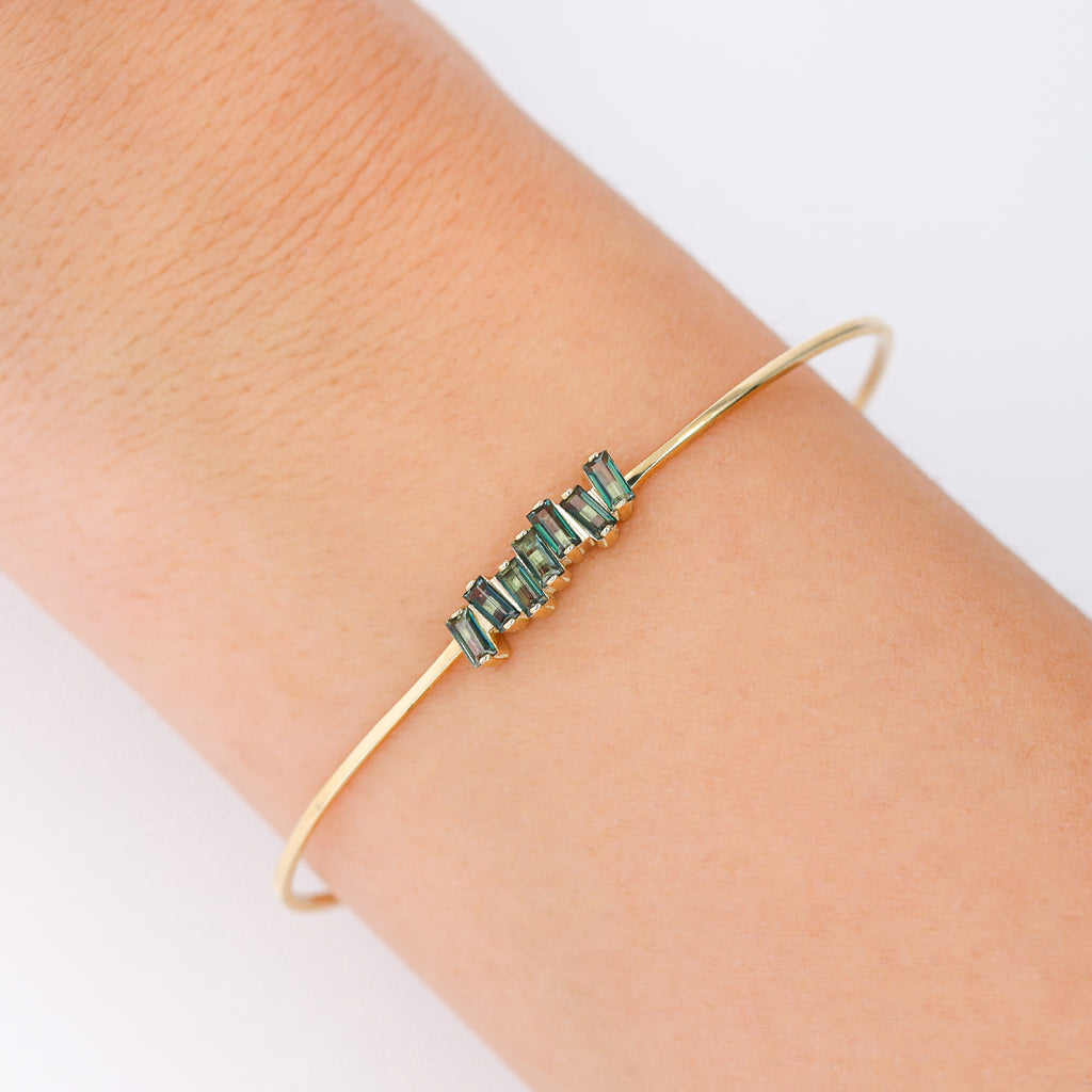 AMELIA GREEN ENVY TOPAZ BANGLE
