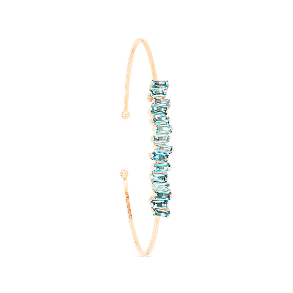 ELIZA SWISS BLUE TOPAZ BANGLE