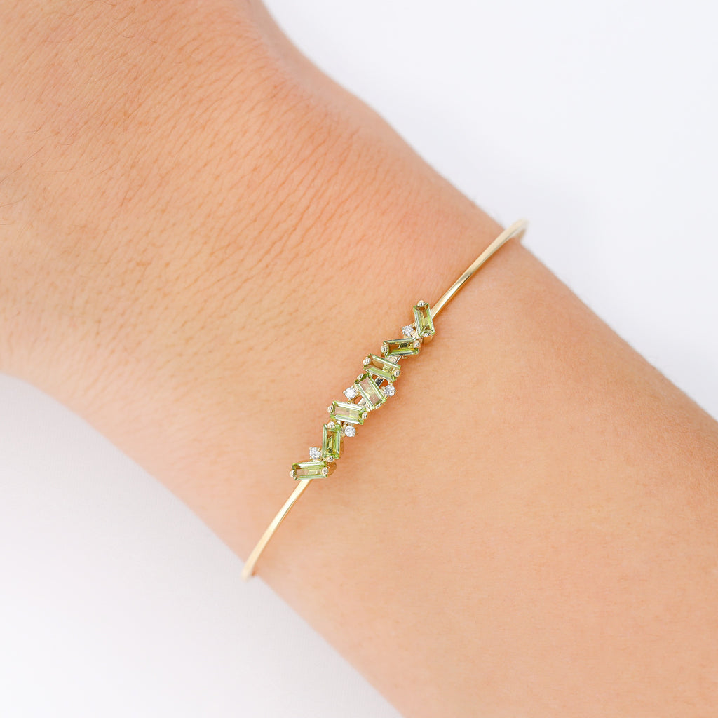 JULIA PERIDOT BANGLE