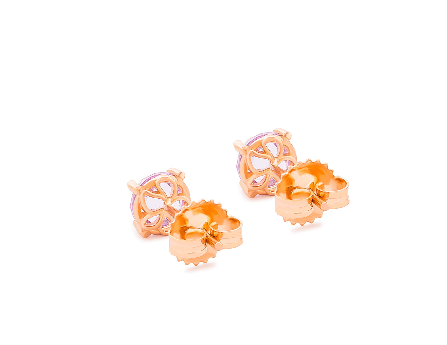14K ROSE GOLD FLORE POST EARRINGS