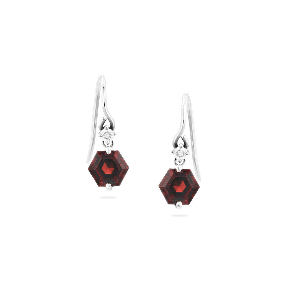 AMELIE HEXAGON DROP EARRINGS