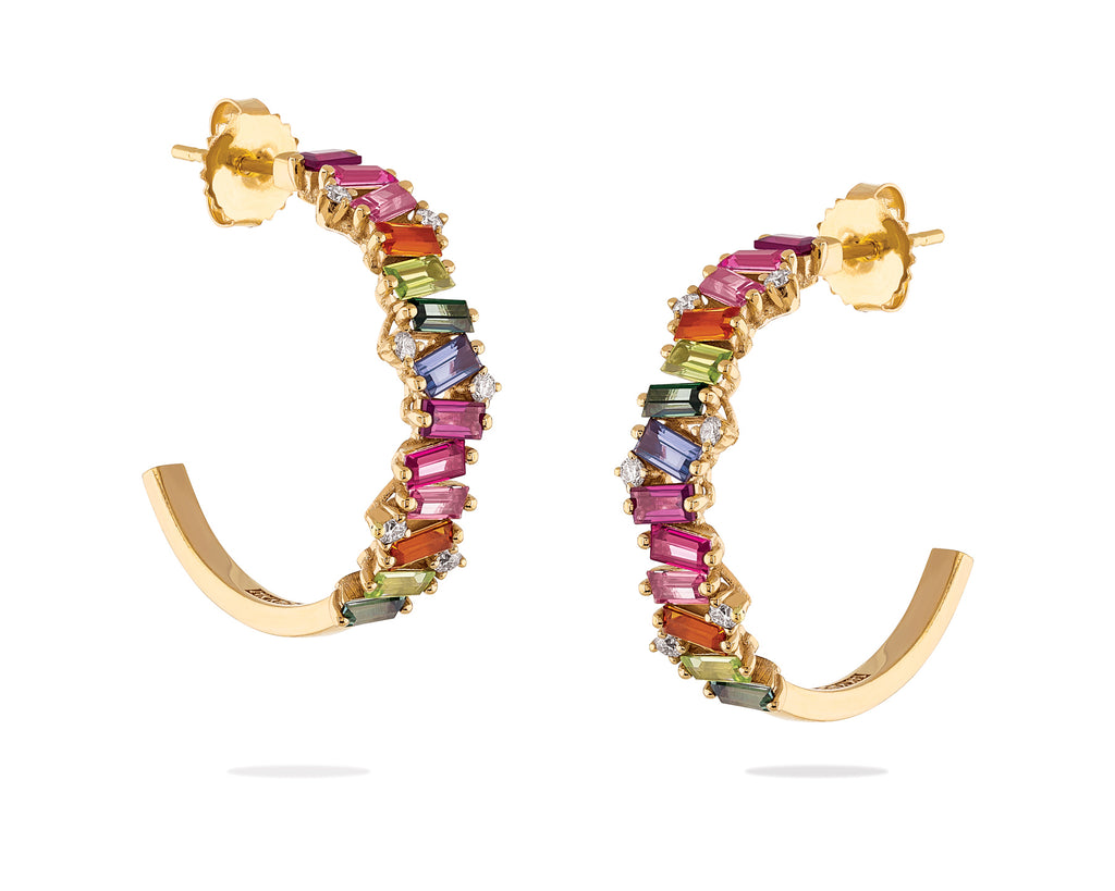 FRENESIA RAINBOW HOOP EARRINGS