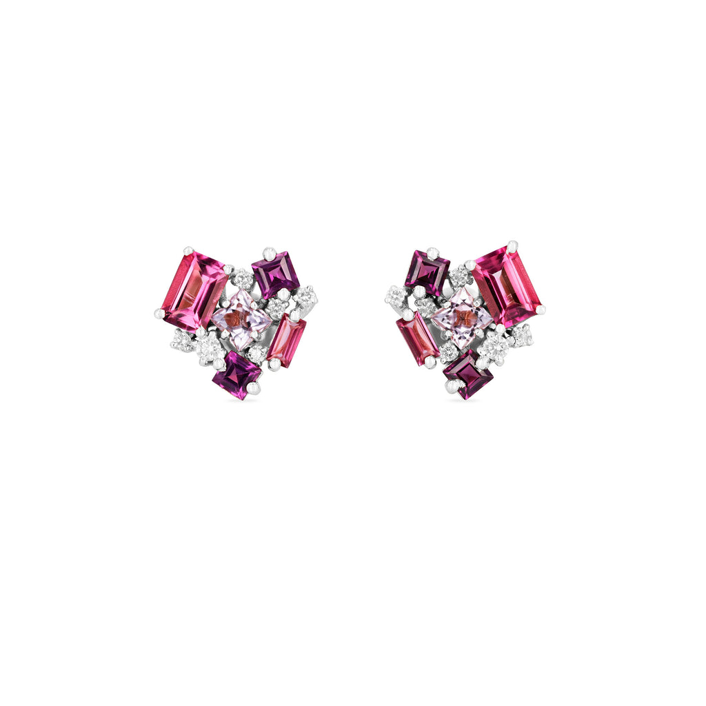 PINK MIX LOVE EARRING