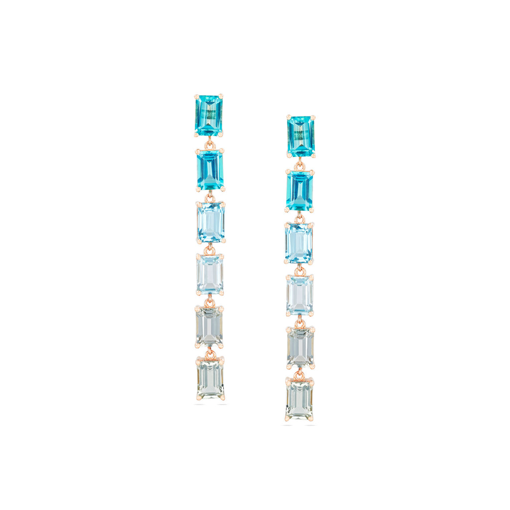 DAWN BLUE OMBRE EARRING