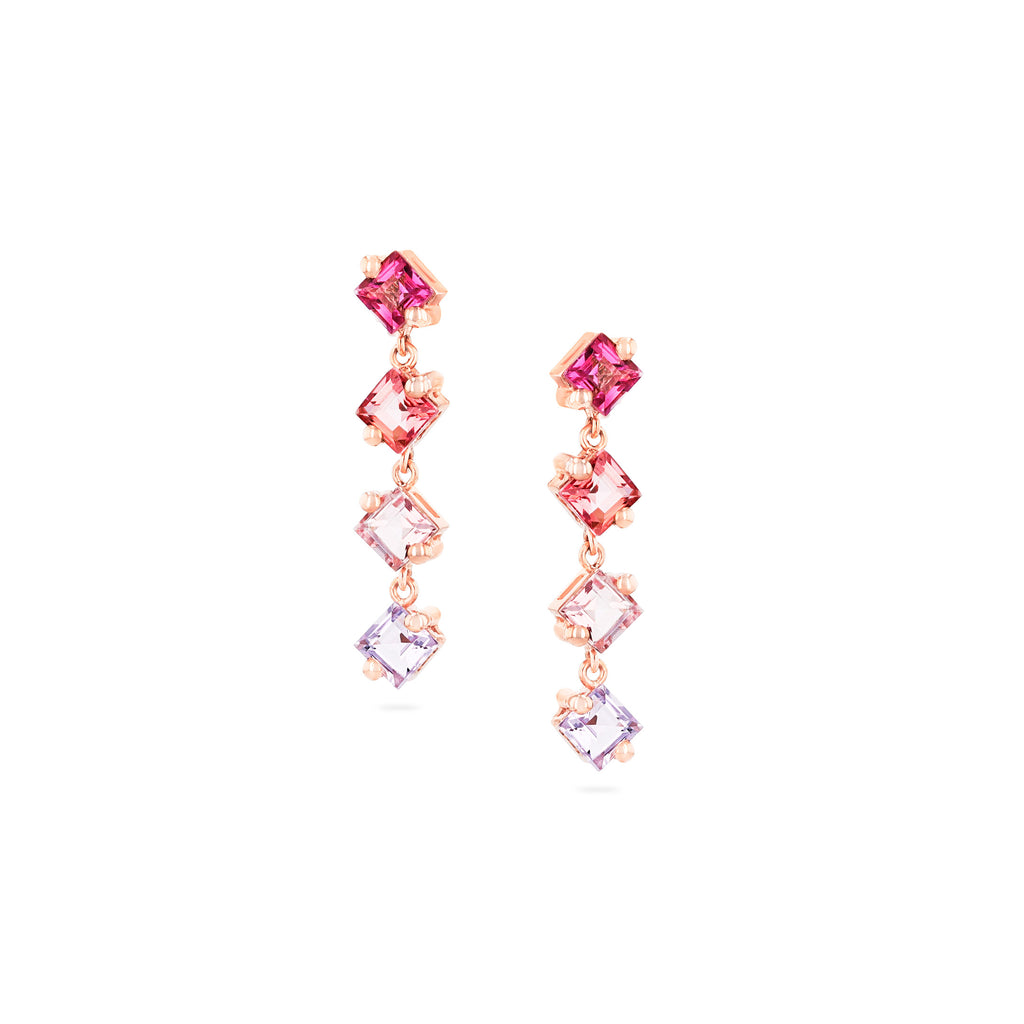 KIRA PINK OMBRE DROP EARRINGS