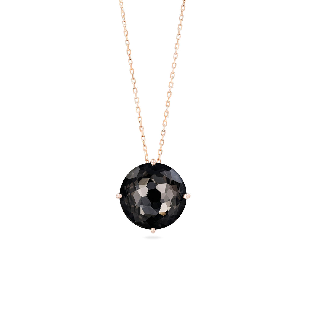 CLASSIC BLACK NIGHT QUARTZ NECKLACE