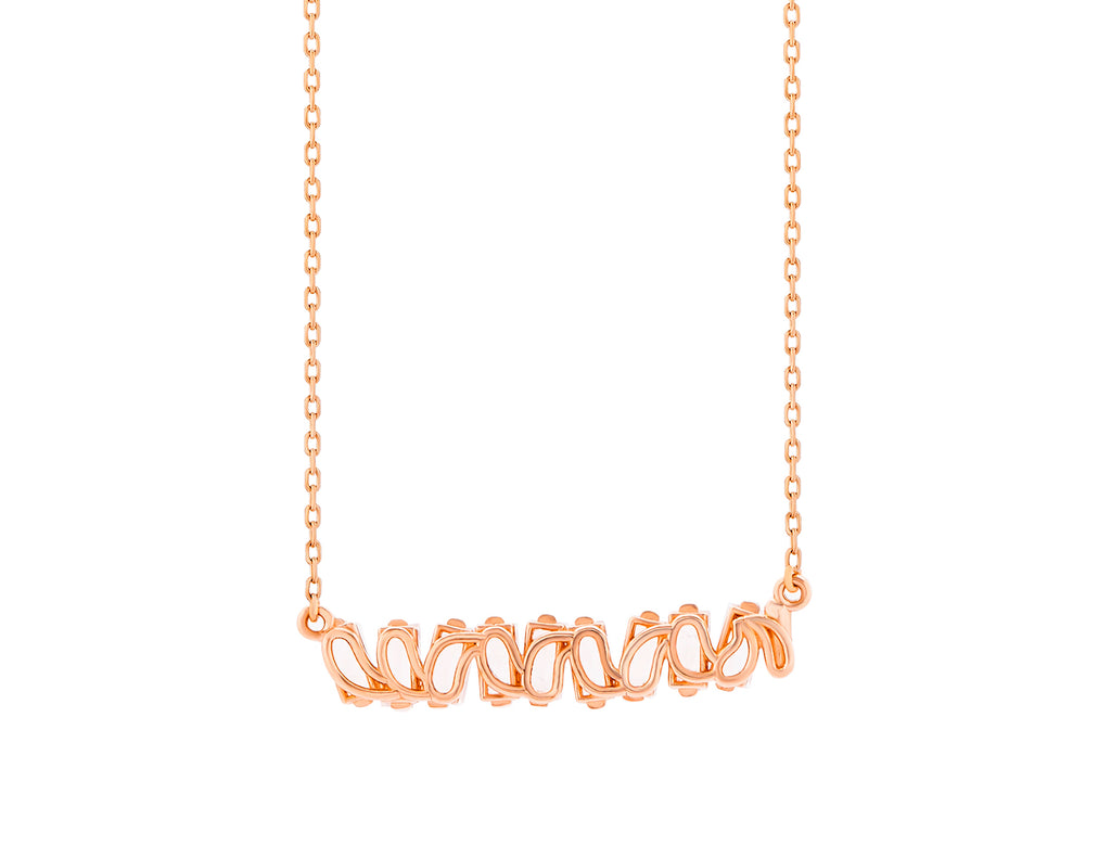 14K ROSE GOLD AMALFI BAGUETTE BAR PENDANT