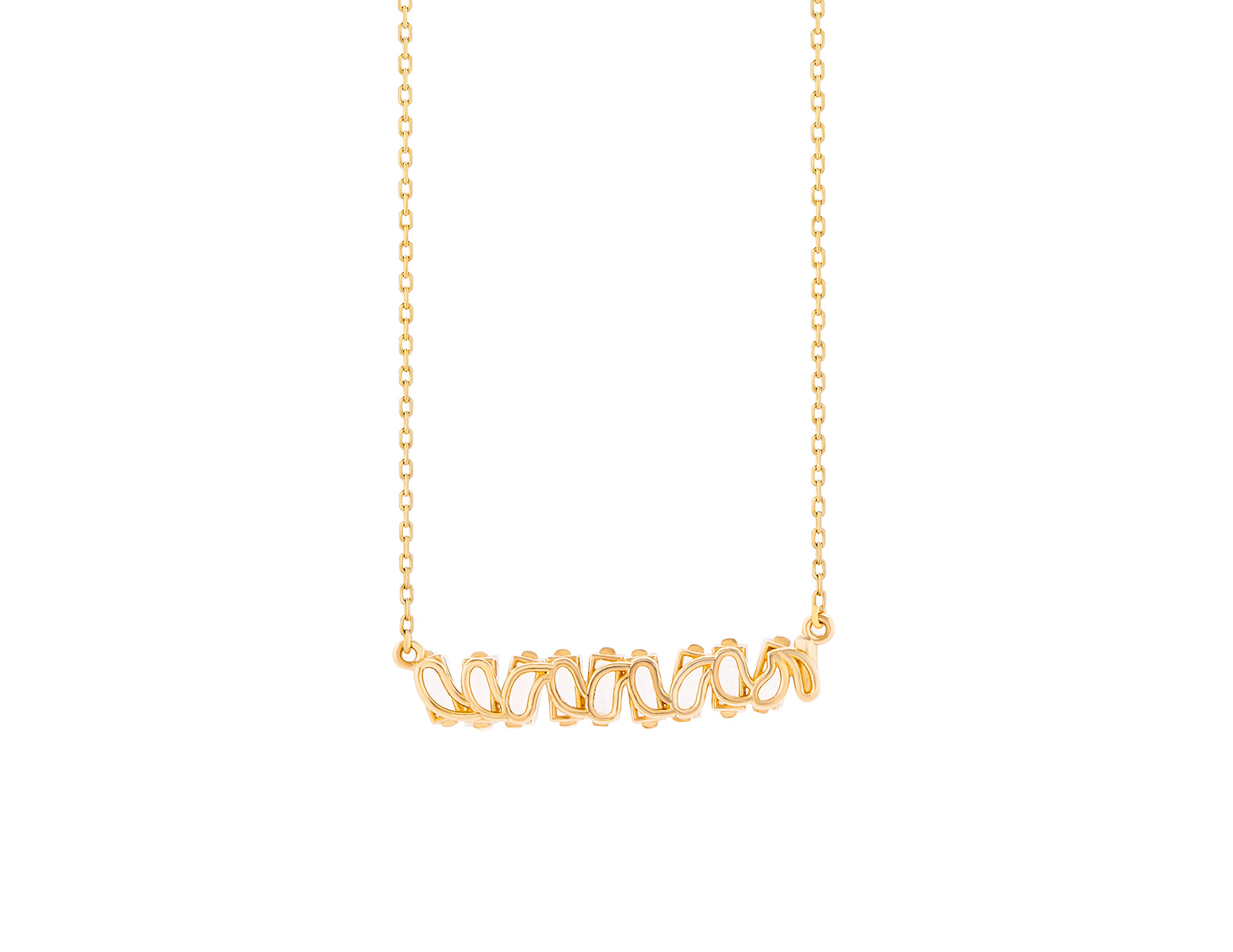 14K YELLOW GOLD AMALFI BAGUETTE BAR PENDANT