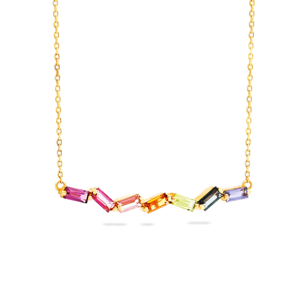 DELIA RAINBOW NECKLACE