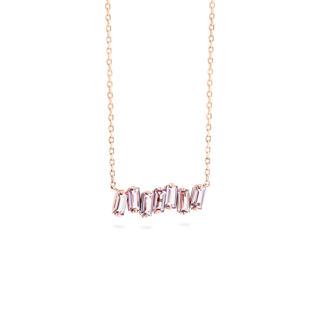 ROSE DE FRANCE BAGUETTE BAR NECKLACE