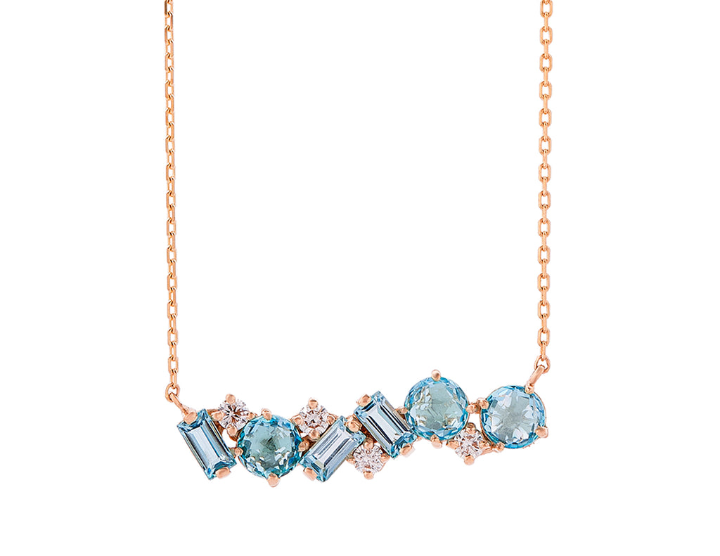 MILLIE SWISS BLUE TOPAZ NECKLACE