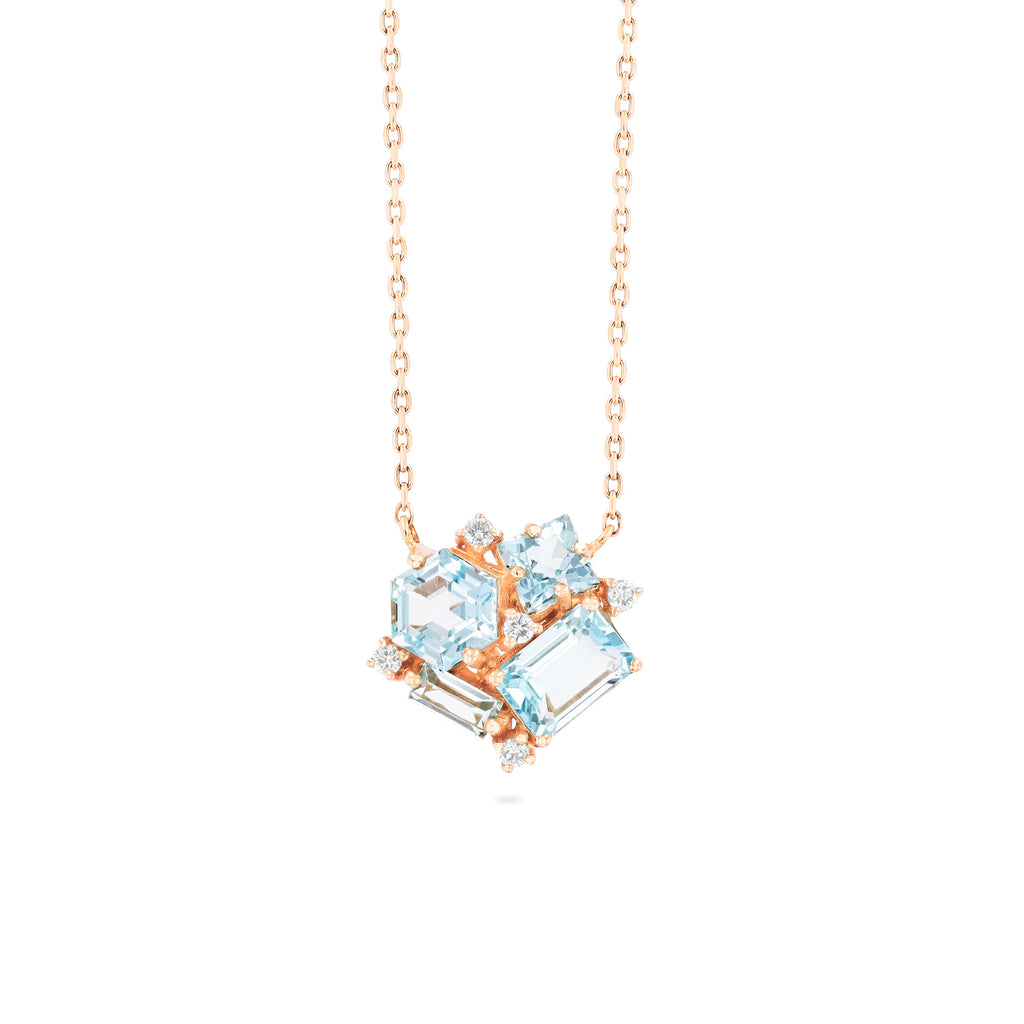 BLUE TOPAZ BLOSSOM NECKLACE