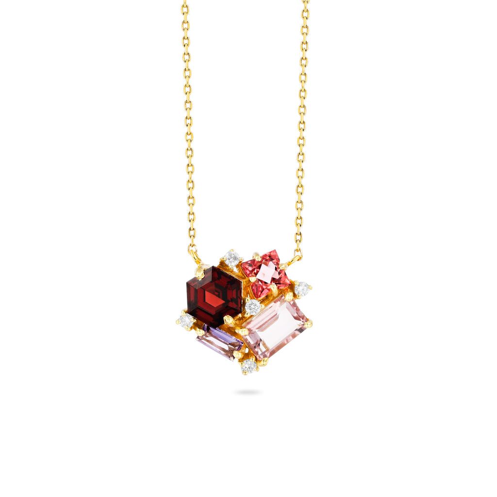 RED MIX BLOSSOM NECKLACE