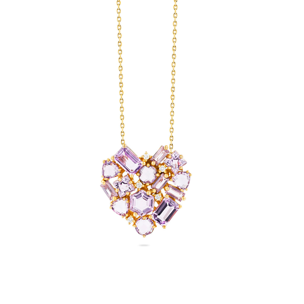 REBEL ROSE DE FRANCE HEART PENDANT