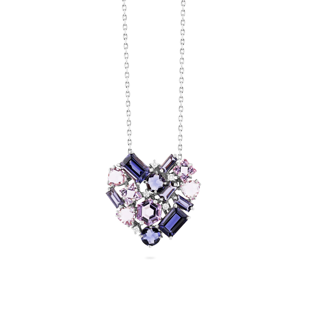 REBEL PURPLE MIX HEART PENDANT