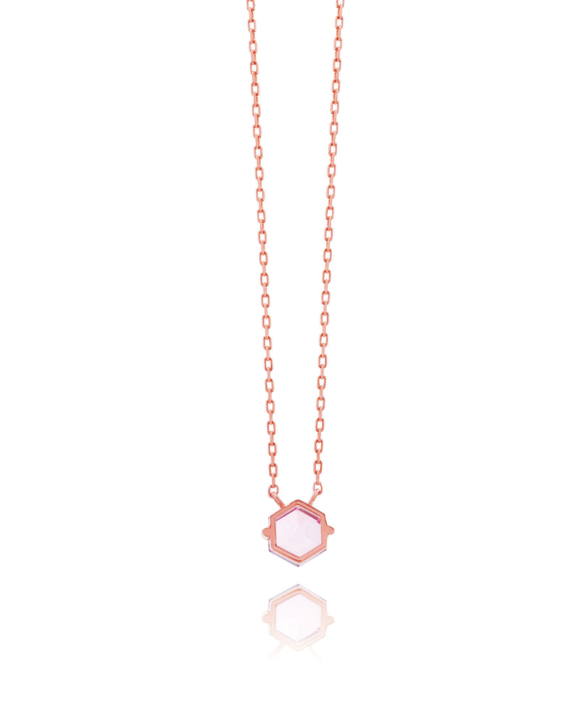 IRIS SALMON TOPAZ NECKLACE