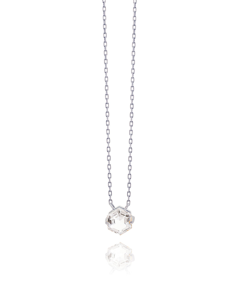 IRIS WHITE TOPAZ NECKLACE