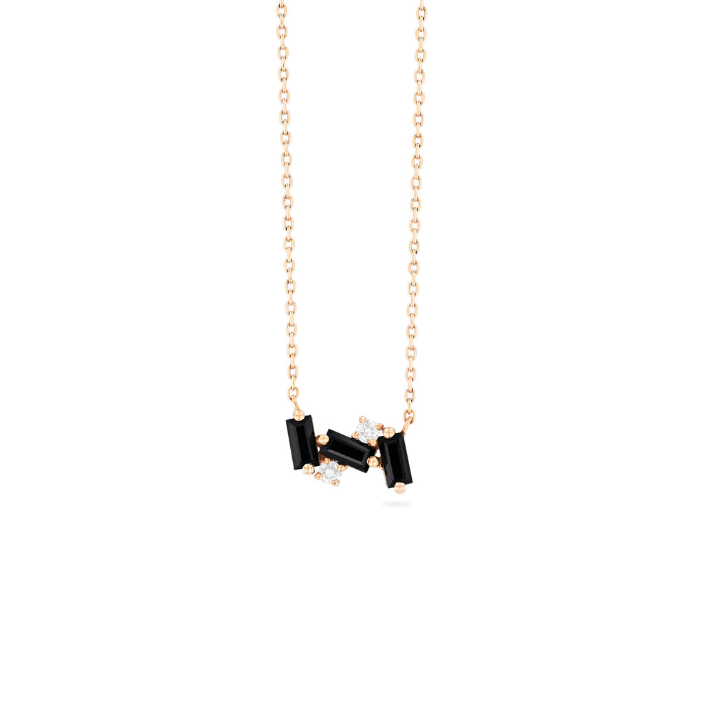 NOLA BLACK SPINEL NECKLACE