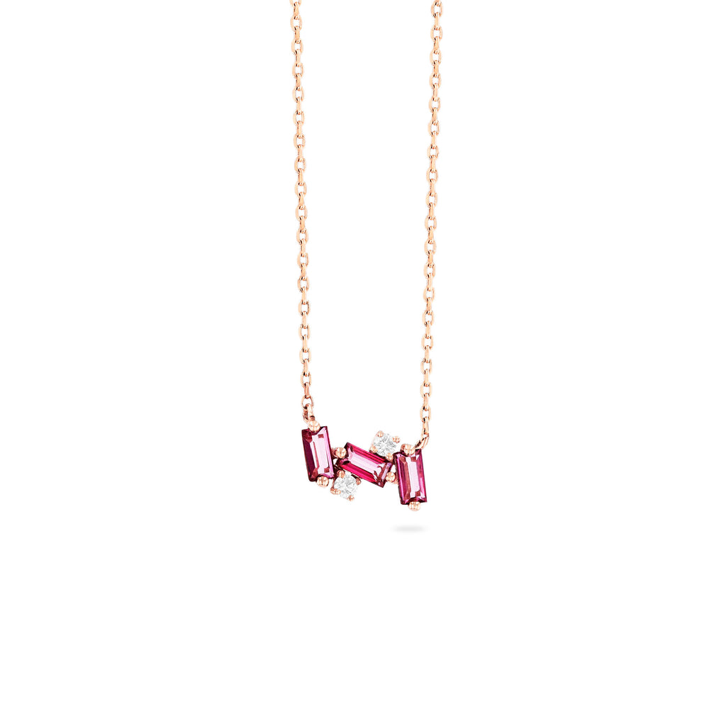 NOLA PINK TOPAZ NECKLACE