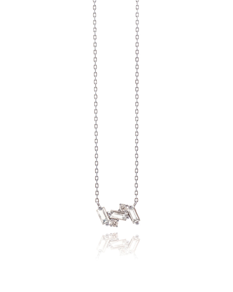 NOLA WHITE TOPAZ NECKLACE