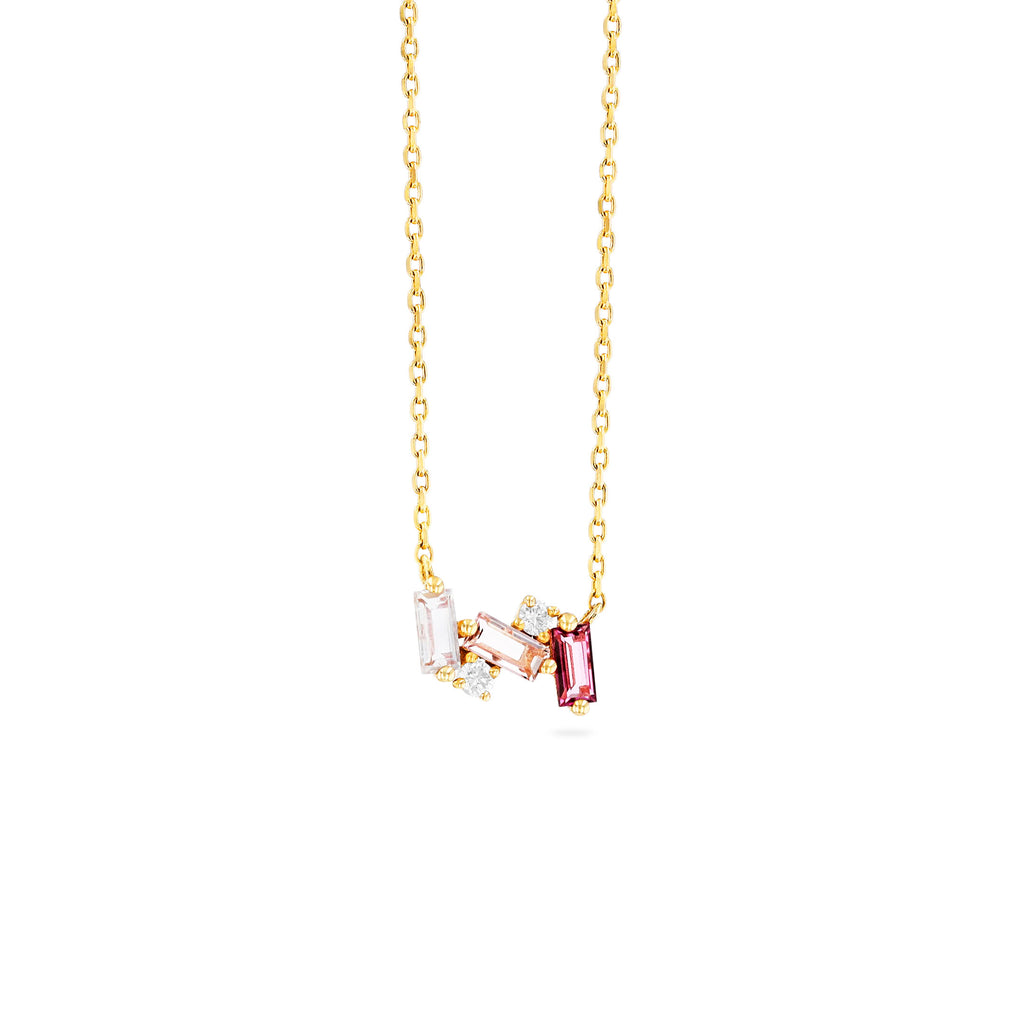 NOLA LIGHT PINK MIX NECKLACE