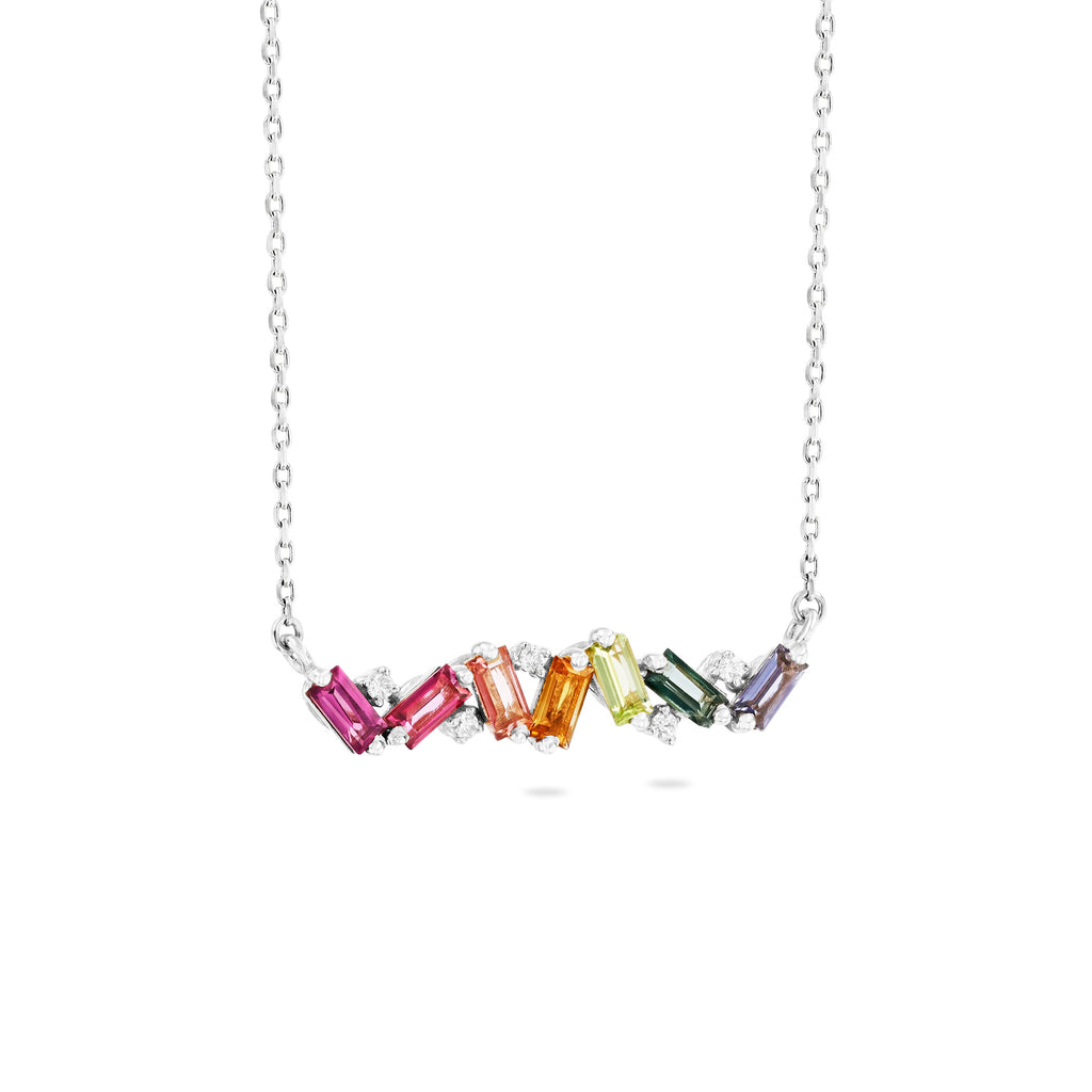 FRENESIA RAINBOW BAR NECKLACE