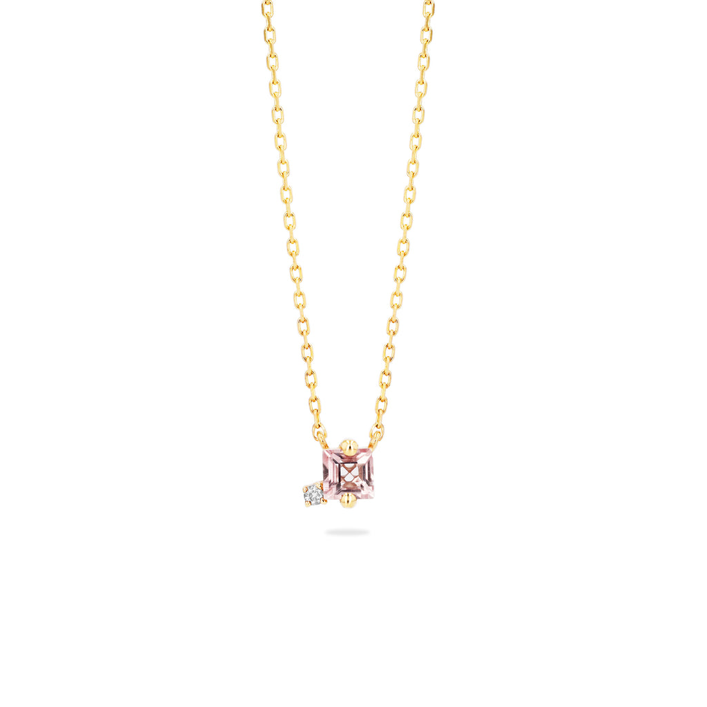 REMI MORGANITE TOPAZ PRINCESS NECKLACE