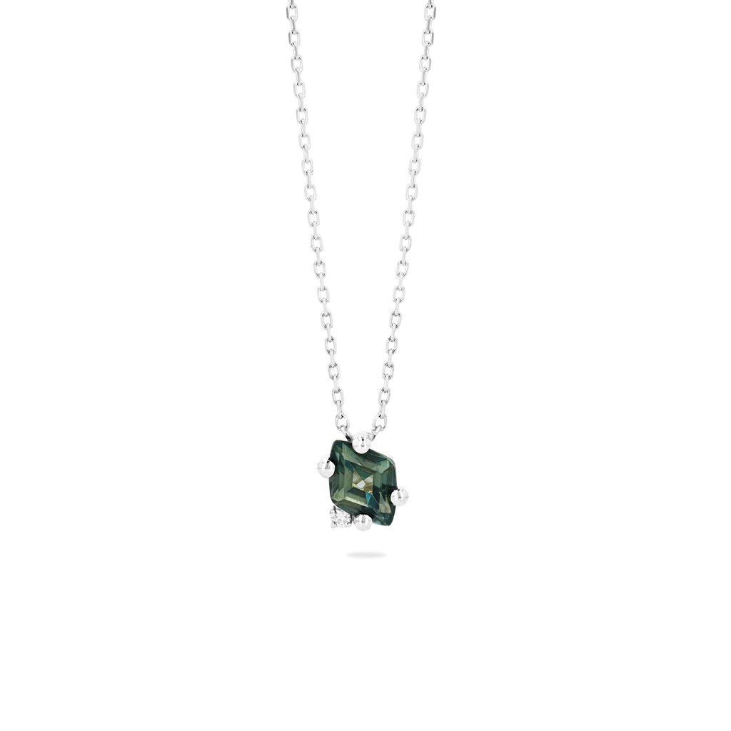LARA GREEN ENVY TOPAZ NECKLACE