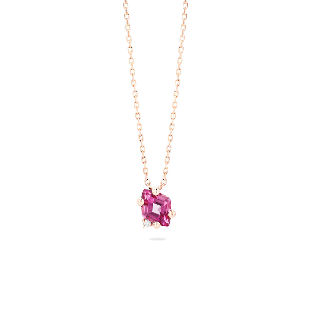 LARA PINK TOPAZ NECKLACE