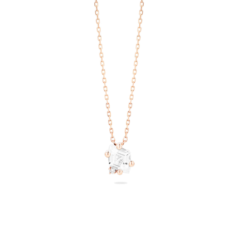 Lara White Topaz Necklace
