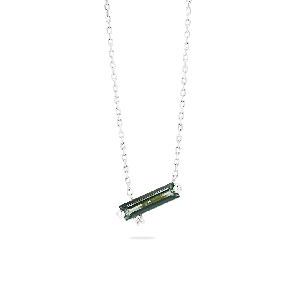 NAXOS GREEN ENVY TOPAZ BAGUETTE NECKLACE