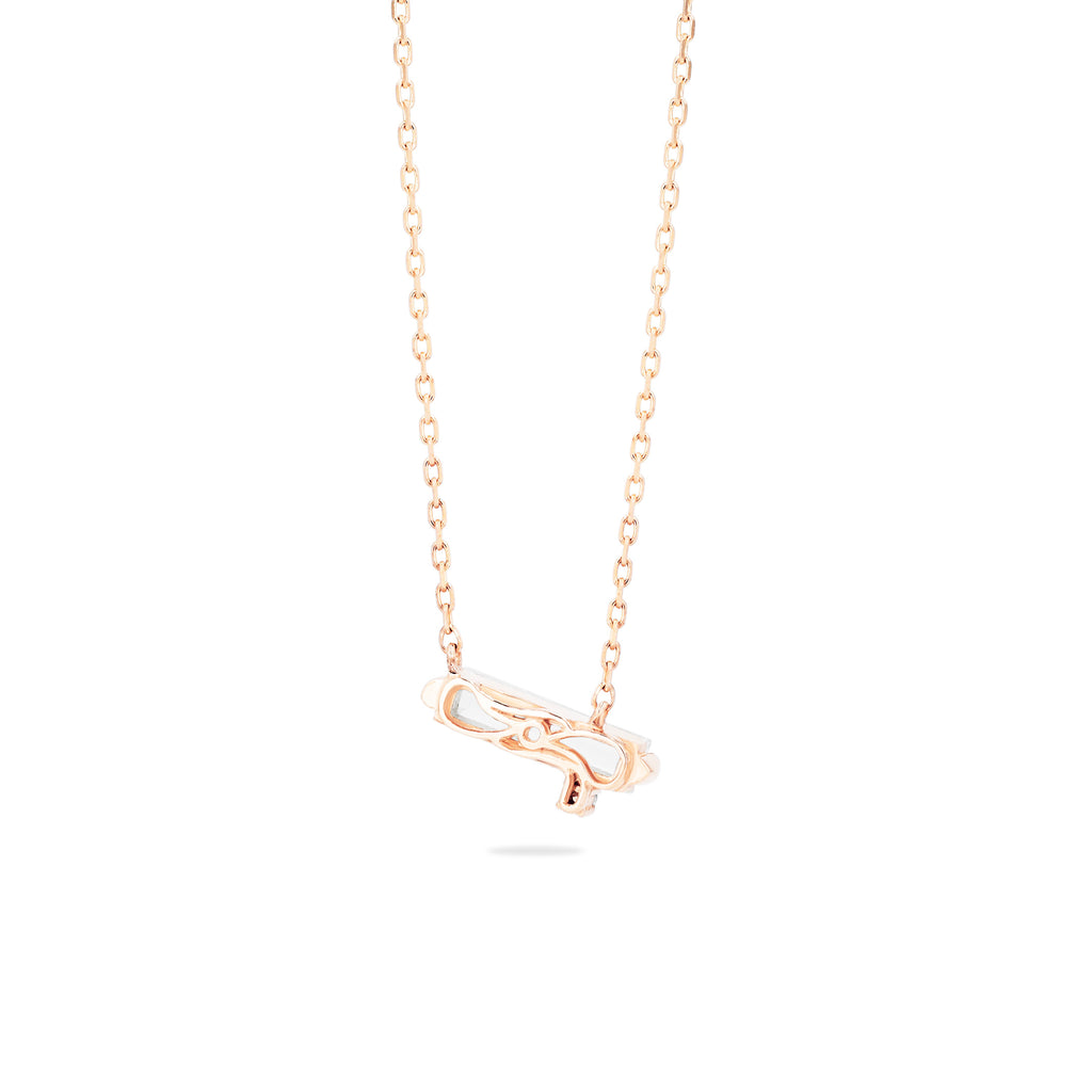 NAXOS WHITE TOPAZ BAGUETTE NECKLACE