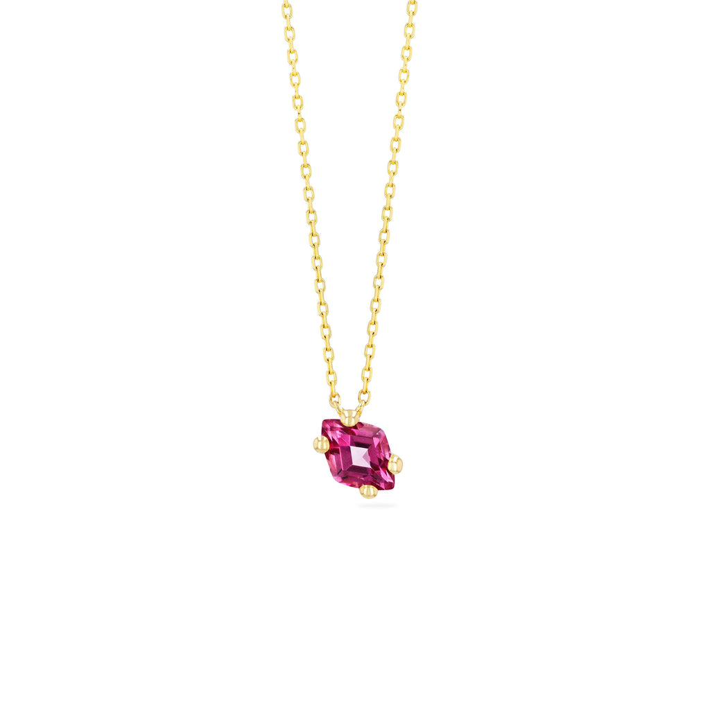 CRETE PINK TOPAZ NECKLACE