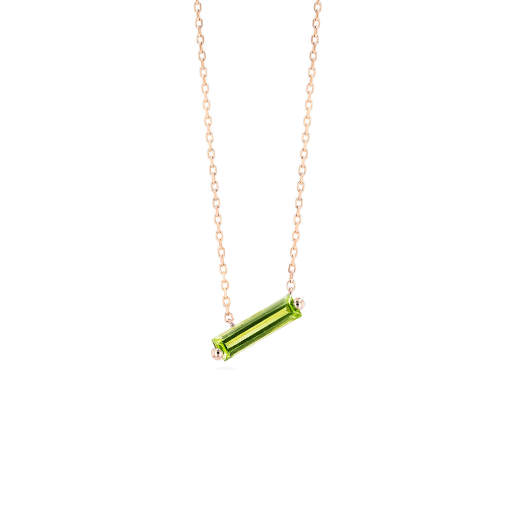 RHODES PERIDOT BAGUETTER NECKLACE