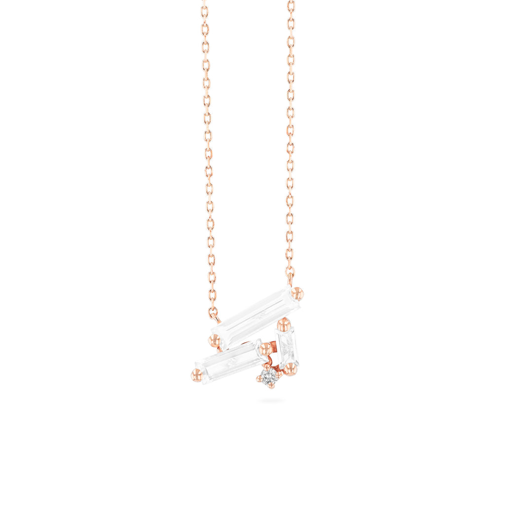 PAROS WHITE TOPAZ NECKLACE