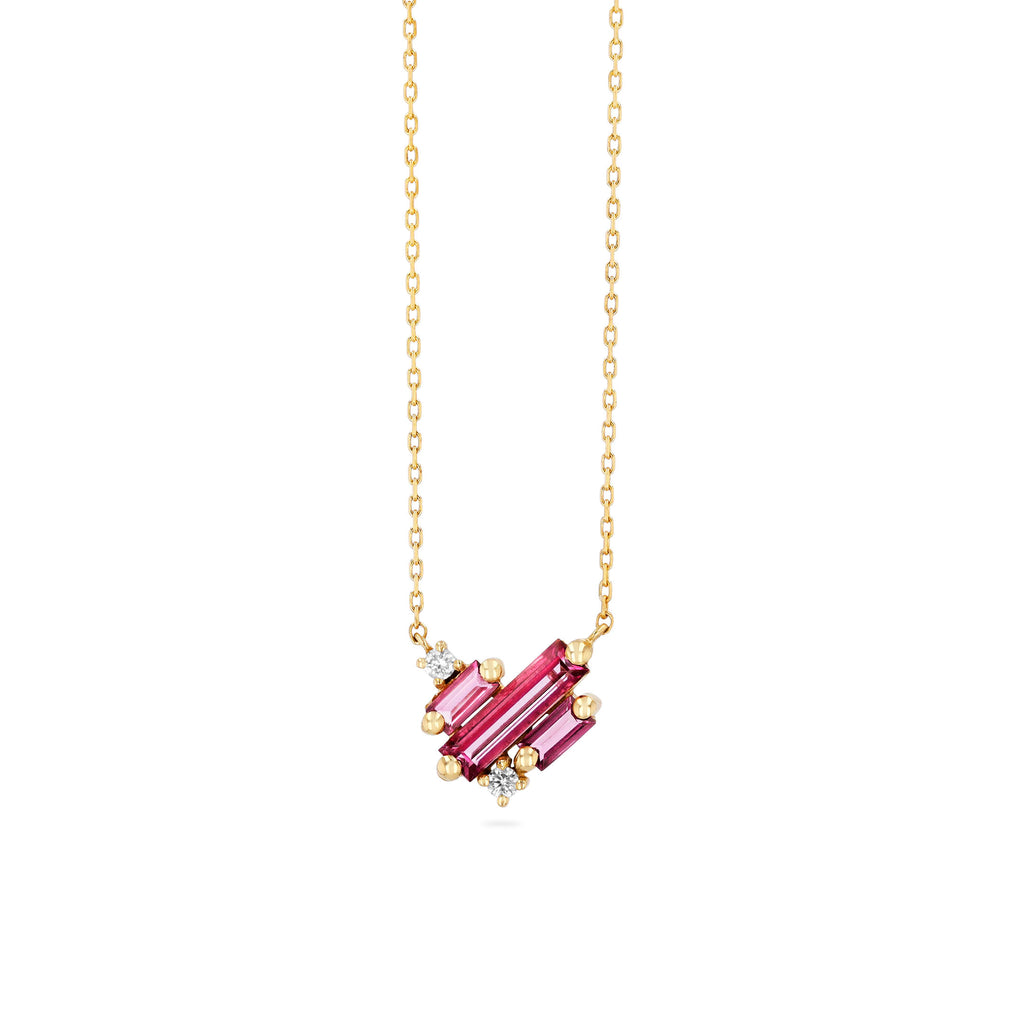 MINI PINK TOPAZ LOVE NECKLACE