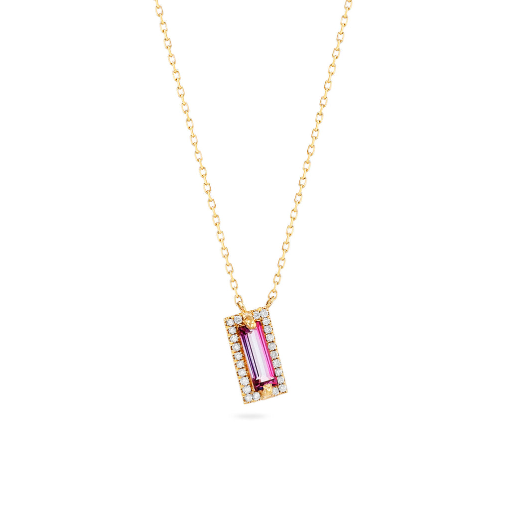 MILA PINK TOPAZ NECKLACE