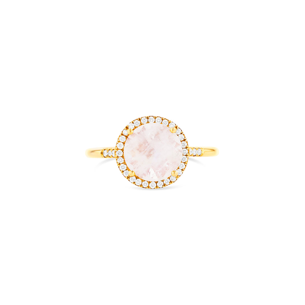 AUDRINA ROUND RAINBOW MOONSTONE RING