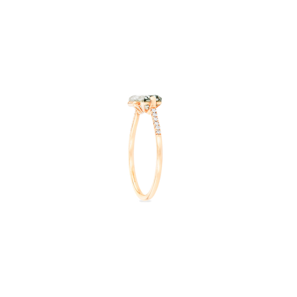 CLASSIC GREEN AMETHYST BAGUETTE RING