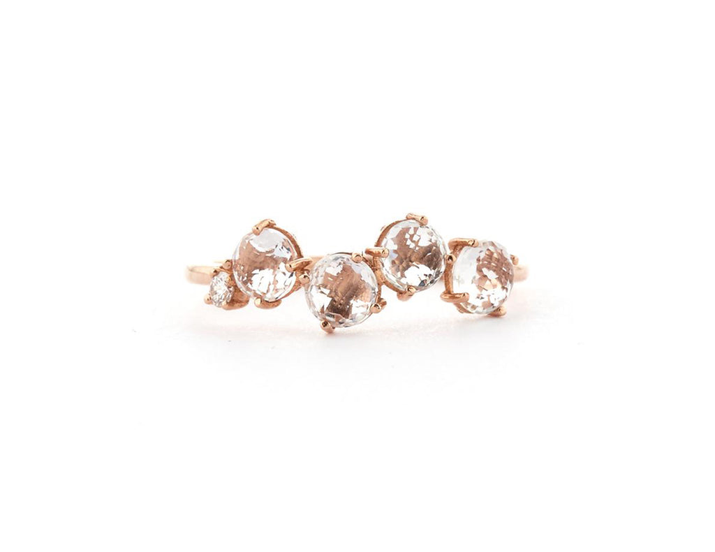 14K ROSE GOLD POPPY RING