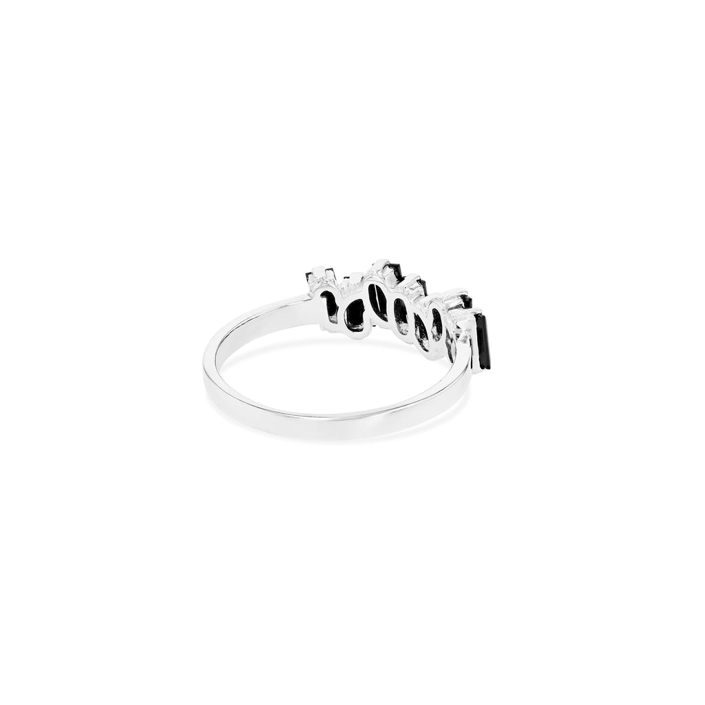 BLACK SPINEL AMALFI WAVE BAND